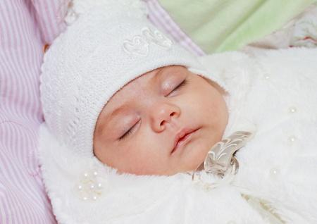 Baby sleeping in his crib Stock Photo - 10744230