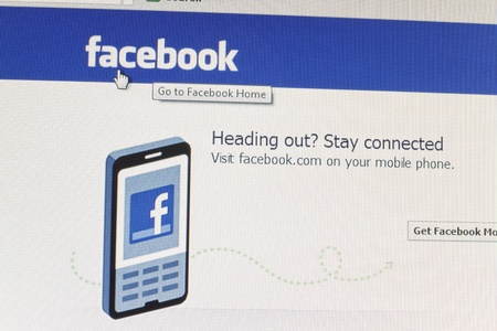 galati: Galati, Romania - October 1, 2011: A close up photo of the Facebook website. Facebook is the largest social networking website in the world and was founded by Mark Zuckerberg.