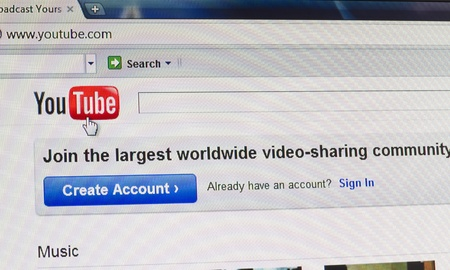 Galati, Romania - October 1, 2011: Close up of YouTube's main page on the web browser. YouTube is the most visited video sharing website in the world. Stock Photo - 10739026