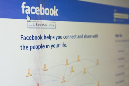 Galati, Romania - October 1, 2011: A close up photo of the Facebook website. Facebook is the largest social networking website in the world and was founded by Mark Zuckerberg.