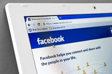 Galati, Romania - Jan 31: Facebook is offering users a moment of glory on a Times Square billboard -- all you have to do is tell them what you care about in the 2012 election.  Homepage of Facebook.com, the biggest social network website on January 31, 20