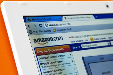 galati: Galati, Romania- January 25, 2012 :  Amazon has been paying fees that are based on the number of subscribers.  Amazon Prime has 7 million to 8 million subscribers, analysts estimate  on January 25, 2012 in Galati, Romania.