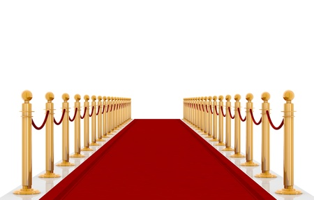 red carpet event: red carpet entrance with the stanchions and the ropes