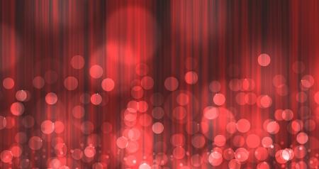 red Light Burst over curtain like abstract image with bokeh Stock Photo