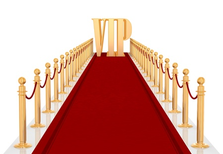 red carpet entrance with the stanchions and the ropes photo
