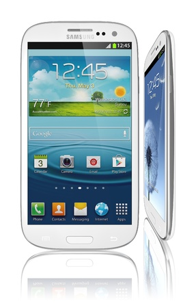 Samsung Galaxy S III Launches In 28 Countries in 2012. Latest phone runs off the latest Android OS, Ice Cream Sandwich (4.0.4), and is powered by a 1.4 GHz quad-core processor, a 2100 mAh battery and  has a 4.8-inch AMOLED display with a HD resolution Editorial