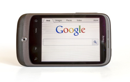 htc: HTC SHOWING HOME PAGE GOOGLE