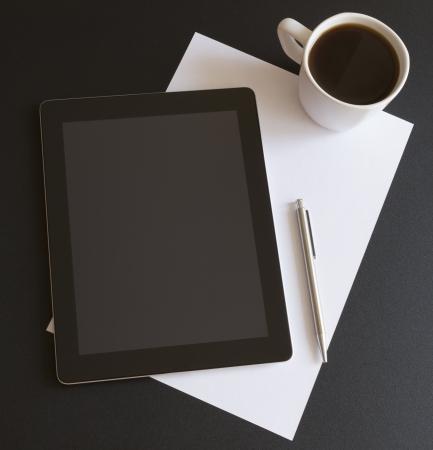 Modern workplace with digital tablet Standard-Bild