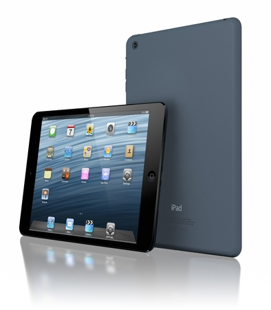 Galati, Romania - November 29, 2012 - Apple introduced iPad  mini, a completely new iPad design that is 23 percent thinner and 53 percent lighter than the third generation iPad. Stock Photo - 16743401