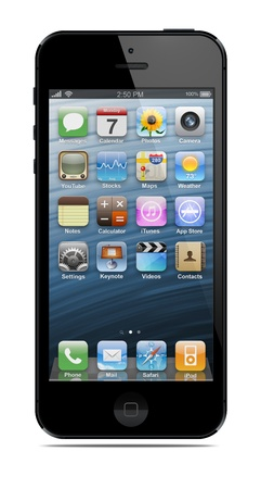 iPhone 5 は 2012 年 9 月 12 日にアップル Inc によって販売のためリリースされました。 報道画像