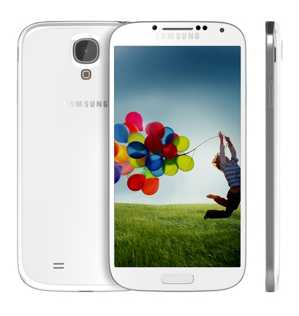 Samsung Galaxy S4 handset steadily draws from the same design language as the S3, but takes almost every spec to an extreme -- the screen is larger, the processor faster and the rear-facing camera stuffed with more megapixels.