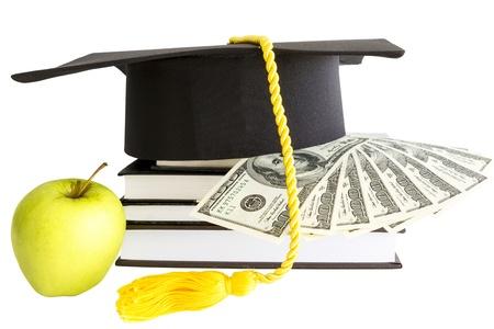お金および教育のための本 写真素材