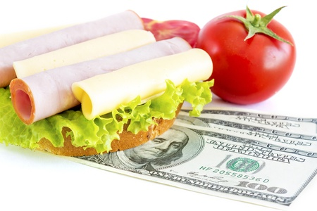 expensive food: Expensive sandwich  Costs for food