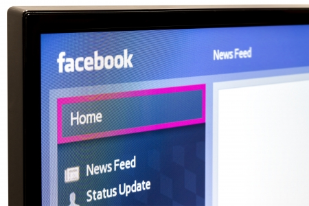 Galati, Romania - January 16, 2013  Close-up of Facebook for Samsung Internet TV makes it s easy to stay connected and share information with friends from your TV  Stock Photo - 23543868