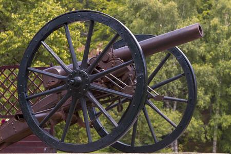 civil war era cannon overlooks kennesaw mountain photo