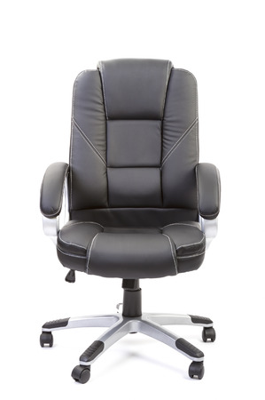 arms on chair: office chair on white background