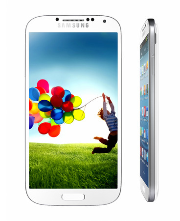 steadily: Samsung Galaxy S4 handset steadily draws from the same design language as the S3, but takes almost every spec to an extreme -- the screen is larger, the processor faster and the rear-facing camera stuffed with more megapixels