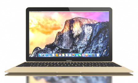 retina display: New Gold MacBook displaying OS X Yosemite. The New MacBook is not only Apples thinnest and lightest, but more functional and intuitive than ever before. It has a 12-inch Retina display with a resolution of 2304 x 1440. The new MacBook was launched on Apr