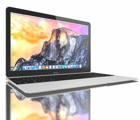 display retina: Silver MacBook displaying OS X Yosemite. The New MacBook is not only Apples thinnest and lightest, but more functional and intuitive than ever before. It has a 12-inch Retina display with a resolution of 2304 x 1440. The new MacBook was launched on April Editorial