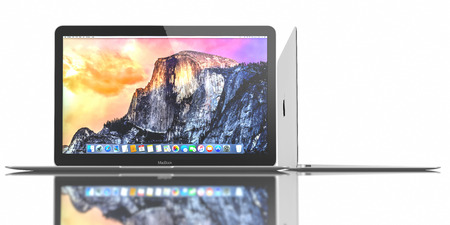 Silver MacBook displaying OS X Yosemite. The New MacBook is not only Apples thinnest and lightest, but more functional and intuitive than ever before. It has a 12-inch Retina display with a resolution of 2304 x 1440. The new MacBook was launched on April Editorial