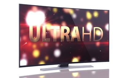 UltraHD Smart Tv with Curved screen on white background Zdjęcie Seryjne