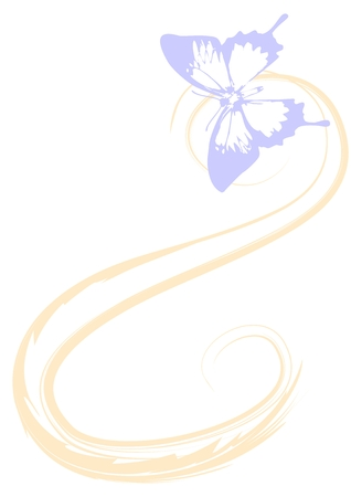 swallowtail: Translucent butterfly .Image Suitable for background. Illustration