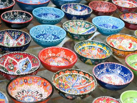 Classical Turkish ceramics in the Grand Bazaar, Istanbul photo