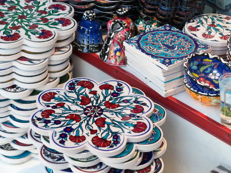 suq: Characteristic Turkish ceramics in the Grand Bazaar, Istanbul