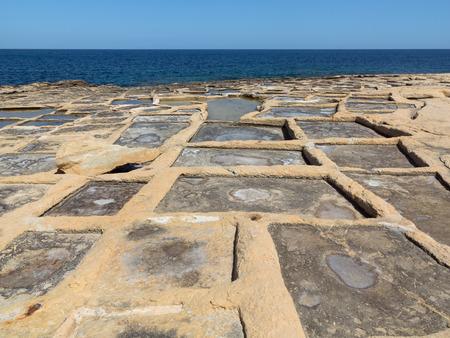 evaporate: Historic salt pans at Marsaskala, Malta