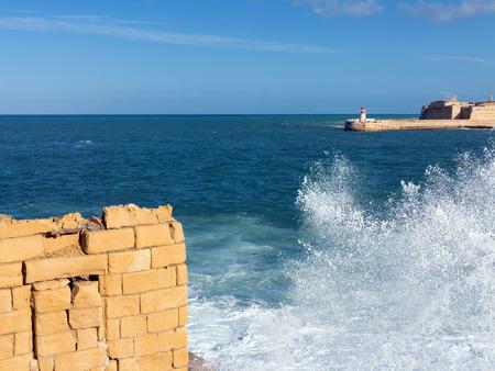 Port entrance of the Grand Harbour of Valletta, Malta