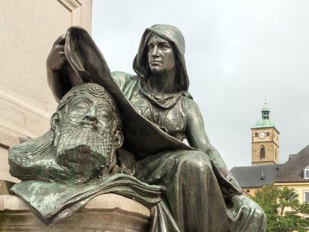 friedrich: Detail of the Friedrich R? Ckert Fountain, Schweinfurt
