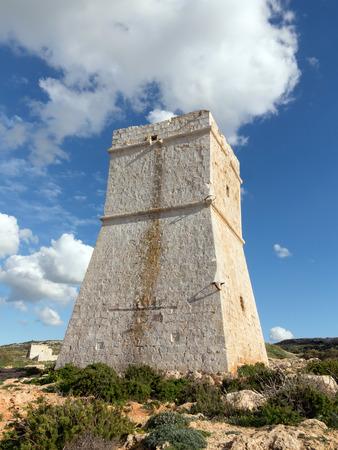 watchtower: Medieval Watchtower in Malta Stock Photo