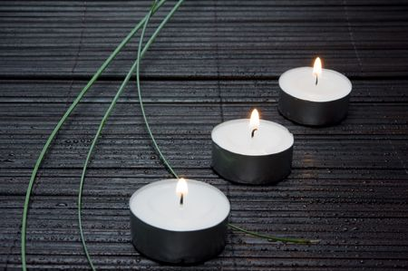Three candles Stock Photo - 7607187