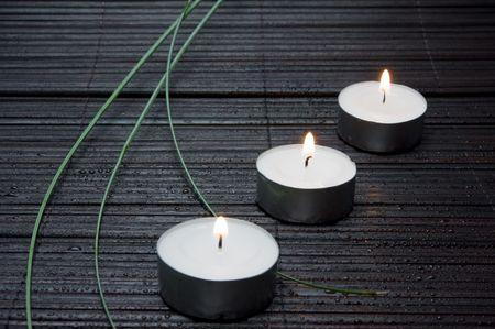 Three candles Stock Photo - 7607187