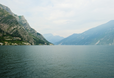 Lake Garda from the town Limone sul Garda photo