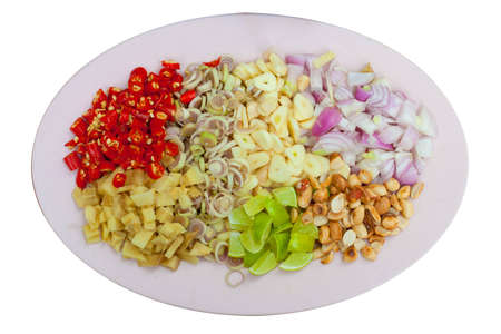 Garlic Shallots  Lemon Peanuts