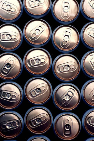 beer cans close up