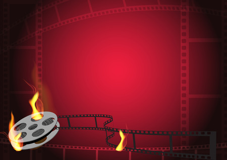 hot film background Illustration