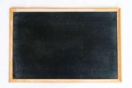 empty blackboard with wooden  photo