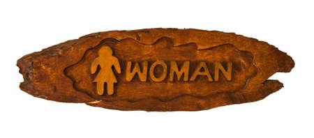 Toilet Sign woman photo