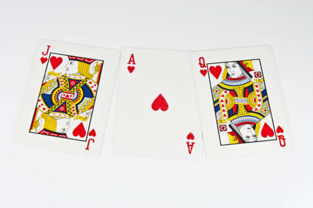 card on background white