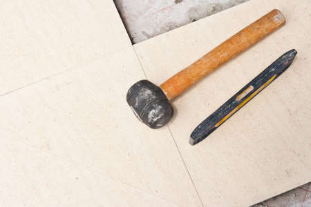 Close up of a workman's tools Stock Photo - 10761778