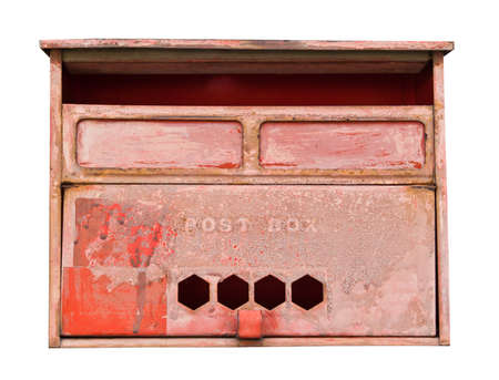 Classical mail box of Thai post on white background Stock Photo - 10987816