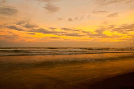 sunrise in the sea  photo
