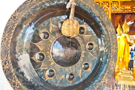 exotic gleam: Big Gong in Thai temple