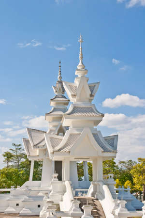 Thai temple called Wat Rong Khun at Chiang Rai, Thailand  photo