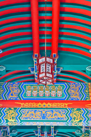 Tradition Chinese painting on Chinese temple
