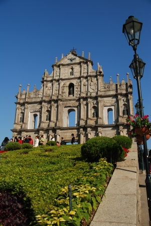 The Famous St  Paul s ruin in Macau Stock Photo - 18306411