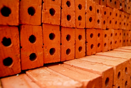 Close up view of the orange bricks  Stock Photo - 18320387