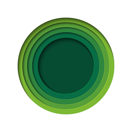 Green abstract background paper art style.Nature and eco concept design template.Vector illustration.
